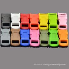 """1/2 """"Цветные контурные криволинейные выпуклые боковые вырезки из пластика по общему для браслета Paracord"""