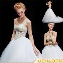 Robes de mariée sans bretelles en Chine une ligne de robes de style français