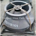 Casting High Manganese Cone Crusher Mantle Parts Compatible with Metso