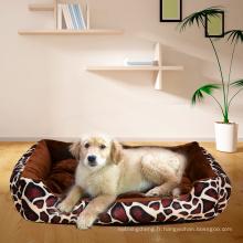 Lit de chien ou de chat de luxe de lit d'animal familier de lit de compagnie, base résistante à l'eau