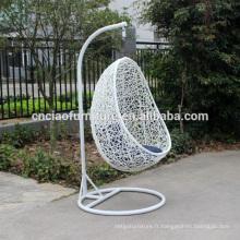 Chaise de balançoire extérieure de rotin de polyester de jardin