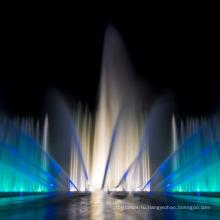 Открытый газовый взрыв Танцующий музыкальный фонтан