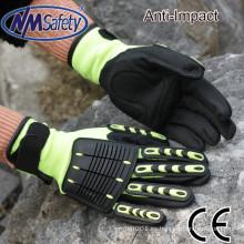 Guantes NMSAFETY 13g TPR guante de impacto mecánico guante resistente al impacto