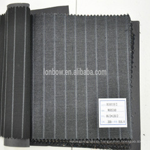 In stock wool silk blended fabric for suit