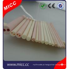 alta temperatura 1 mm 2 mm 3 mm dentro diâmetro isolador cerâmico único buraco