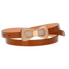 Fashion bow buckle shinny kids pu belt