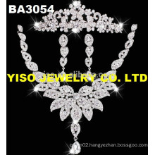 latest design big wedding bridal jewelry set