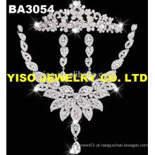 Mais recente design grande casamento conjunto de jóias de noiva