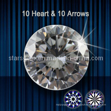 10 сердец и 10 стрел кубического диоксида циркония