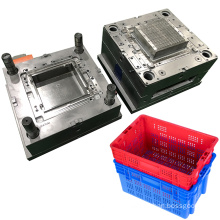 manufacturer Custom Precision Injection Molding Turnover Box Mold Plastic Container Crate Mould