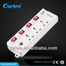 Multiple usb controlled power socket