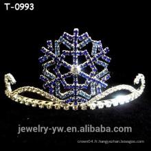 Belle diadème noire de Noël en diamant de strass coloré pour les enfants