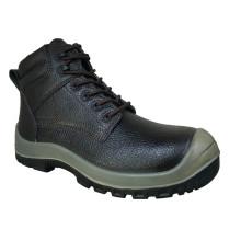 Venda quente Casual estilo Split em relevo couro calçados de segurança (HQ8004)