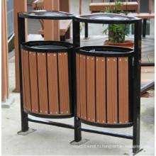 Высокая корзина Quanlity Outdoor WPC для мусора