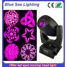 China Iluminação de palco 180W Led Spot Moving Head