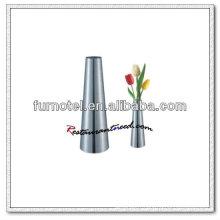 T193 Vase en forme de cône en acier inoxydable