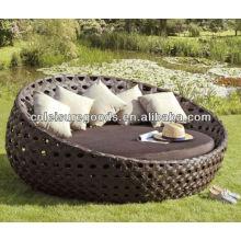 Современный дизайн роскошный круглый ротанга кушетка