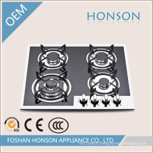 Four Burners Tempered Glass Gas Hob Gas Cooker