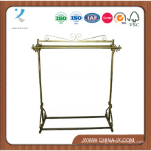 Elegant Boutique Rolling Apparel Stand with Two Bars