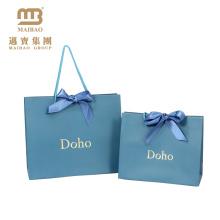 Китай Производит Оптовые Роскошные Напечатаны Золотой Фольгой Логотип Дизайн Свадебного Изготовленный На Заказ Бумажный Мешок Подарка С Ручкой