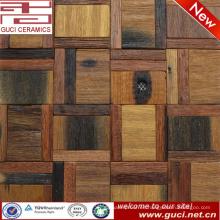 Azulejo de piso de madera sólida mezclado 300x300 en diseño de azulejo de mosaico