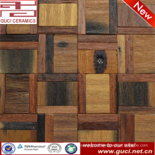 300x300 mixed Solid wood floor tile in mosaic tile design
