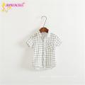 Girl Grid Short Sleeveless Breathable Blouses Of European Style