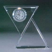 Reloj de mesa con cristal moderno de cristal
