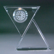 Moder Crystal Glass Table Clock Watch