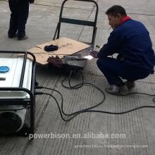 BISON CHINA Тайчжоу 1.8kw портативный дизельный сварочный генератор с колесами