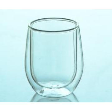 High Quality Mouth Blowing Clear Double Wall Coffee/Tea Glass Cup
