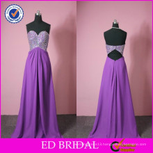 ED Bridal New Model Real Photo A-line Beaded Flowing Chiffon Evening Dresses with Stones