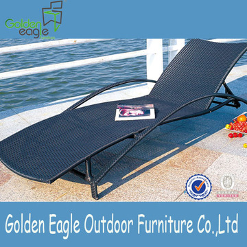 Aluminum Outdoor Sun Lounger with Wheel