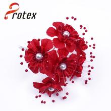 Venda Por Atacado Decorativo preço barato flor artificial com cor vermelha
