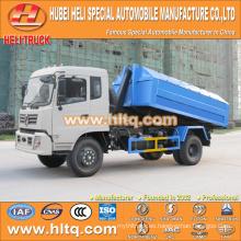 Dongfeng 4x2 10CBM gancho brazo camión de basura 190hp precio barato para la venta En China