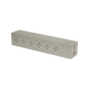 Aluminum/Steel hydraulic oil block customized hydraulic valve control manifold block