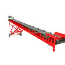 Transportador de correa de goma movible para la arena de la mina de carbón
