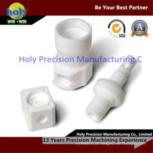 Os blocos de nylon plásticos do CNC giraram fazer à máquina das peças