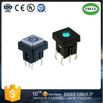 10 * 10mm Mikroschalter beleuchteter Schalter (FBELE)