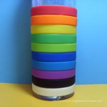 NO MOQ Blank silicon wristband, Cheap plain silicon bracelet, Custom logo rubber bracelet