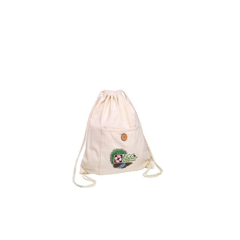 Natural white cotton bag