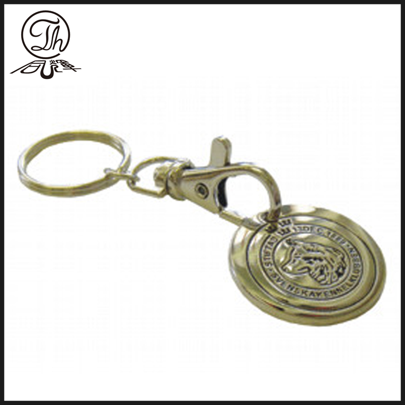 Blank metal trolley coin keychain metal