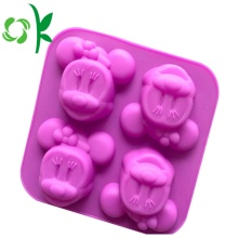 Silicone 4 furos MInnie Mouse New Arrival Soap Mold