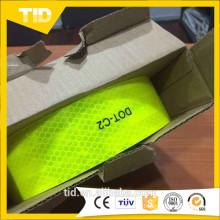 Ruban réfléchissant jaune vert fluorescent US DOT-C2
