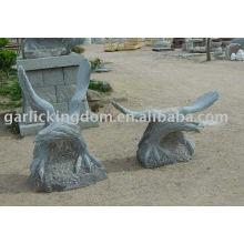 Belle sculpture en pierre d'aigle
