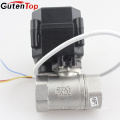 Gutentop 2 way diverting electric ball valve with high quality cheaper price