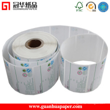 Etiqueta autoadhesiva, Etiqueta térmica, Etiqueta de papel