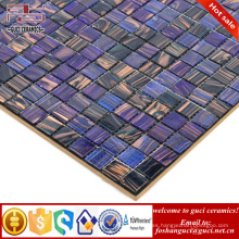 La fábrica de China mezclada púrpura caliente - derrite el azulejo de mosaico barato baldosas