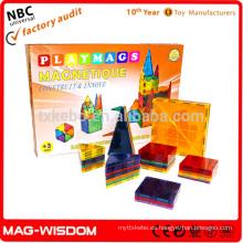 Playmags 2016 construcción magnética azulejos de construcción Magna azulejos juguetes educativos 38pcs conjunto