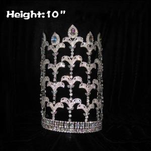 10inch Heigth Crystal Mardi Gras Fleur De Lis Crowns